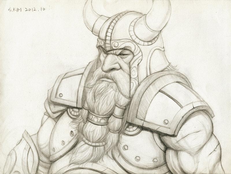 Drawn dwarf Kimsuyeong81 King Dwarf Warrior DeviantArt