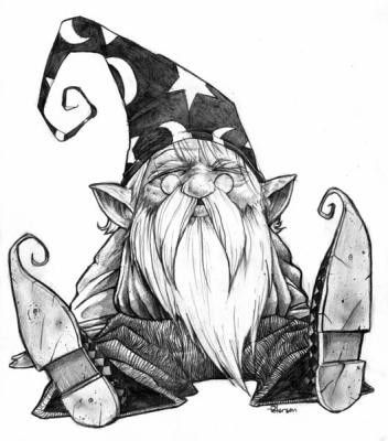 Drawn dwarf awesome Drawing awesome on gnomes Pinterest