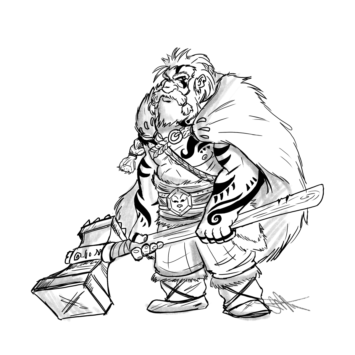 Drawn dwarf bad By Album /u/Fancymancer on Barbarian