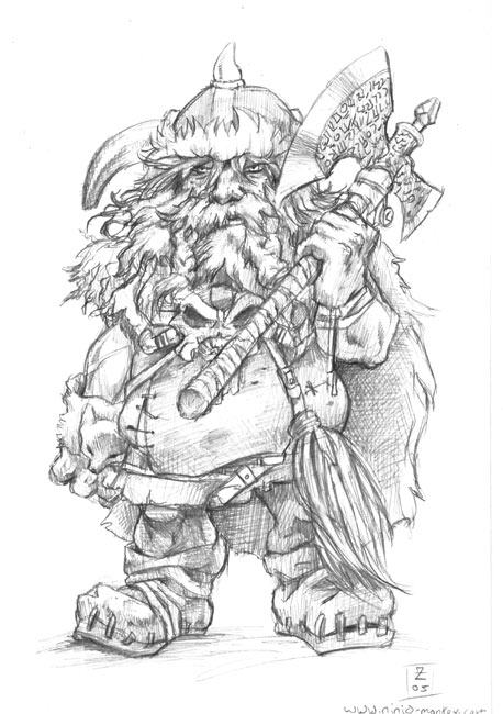 Drawn dwarf barbarian warrior Dwarf Barbarian DeviantArt Dwarf on