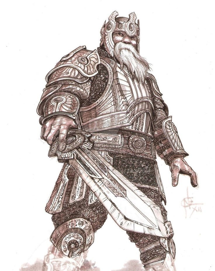 Drawn dwarf barbarian warrior Atongwali Medieval 277 Fantasy warrior;