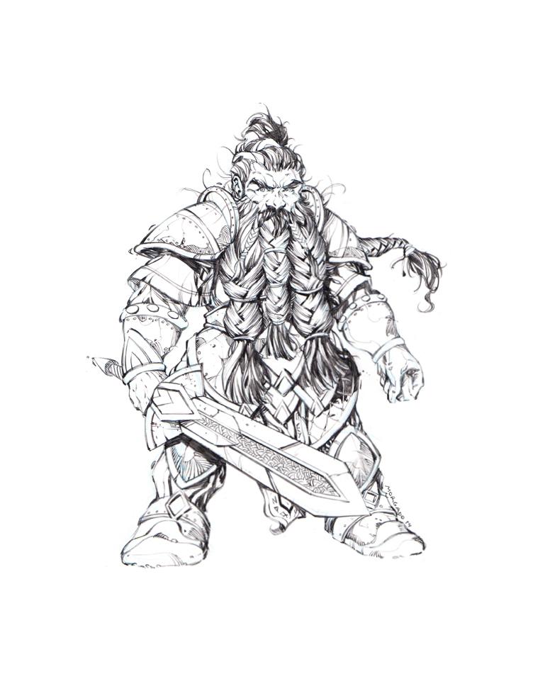 Drawn dwarf berserkers Dwarf Warrior ManuelMorgadoArt Warrior ManuelMorgadoArt