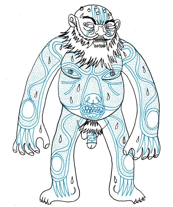 Drawn dwarf berserkers Le Chaudron Bear Tattoo Berserker