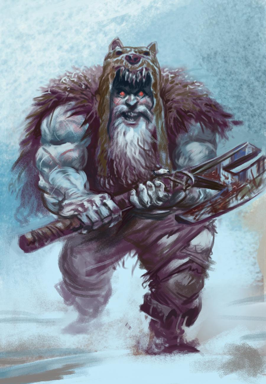 Drawn dwarf berserkers Berserker Mad big and eyes