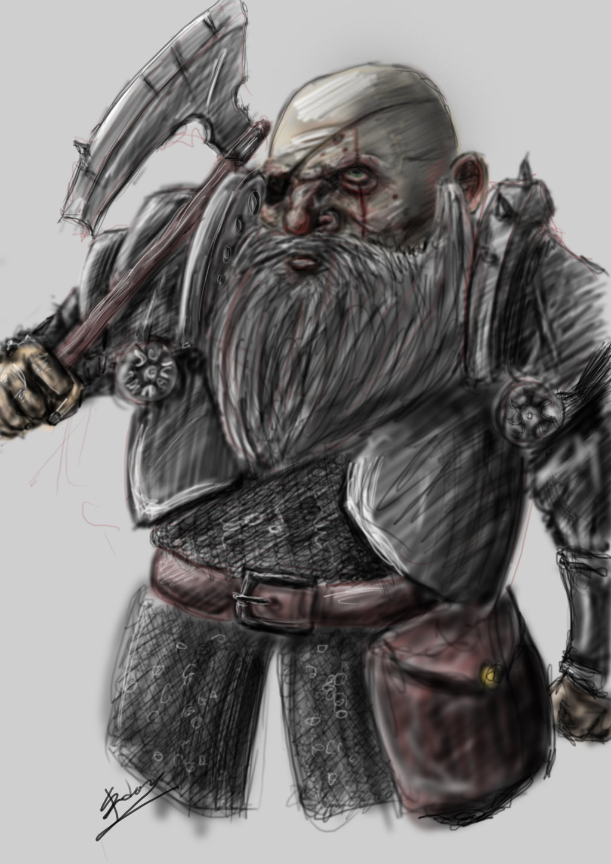 Drawn dwarf berserkers Dwarf Berserker Aranniel Berserker DeviantArt
