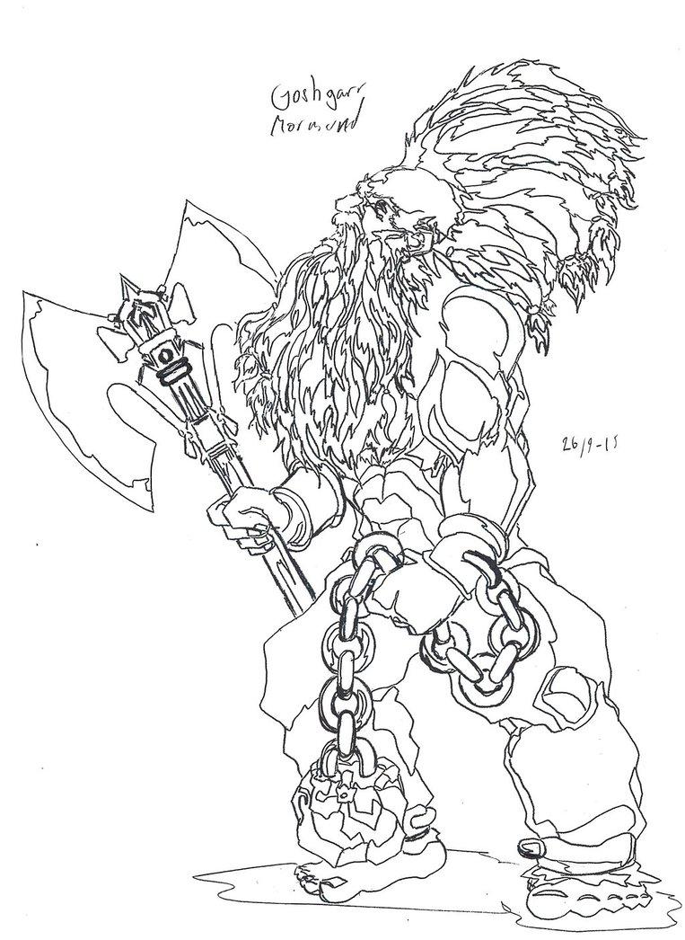Drawn dwarf berserkers Jeppe Roemer TolkyJr Berserker Roemer
