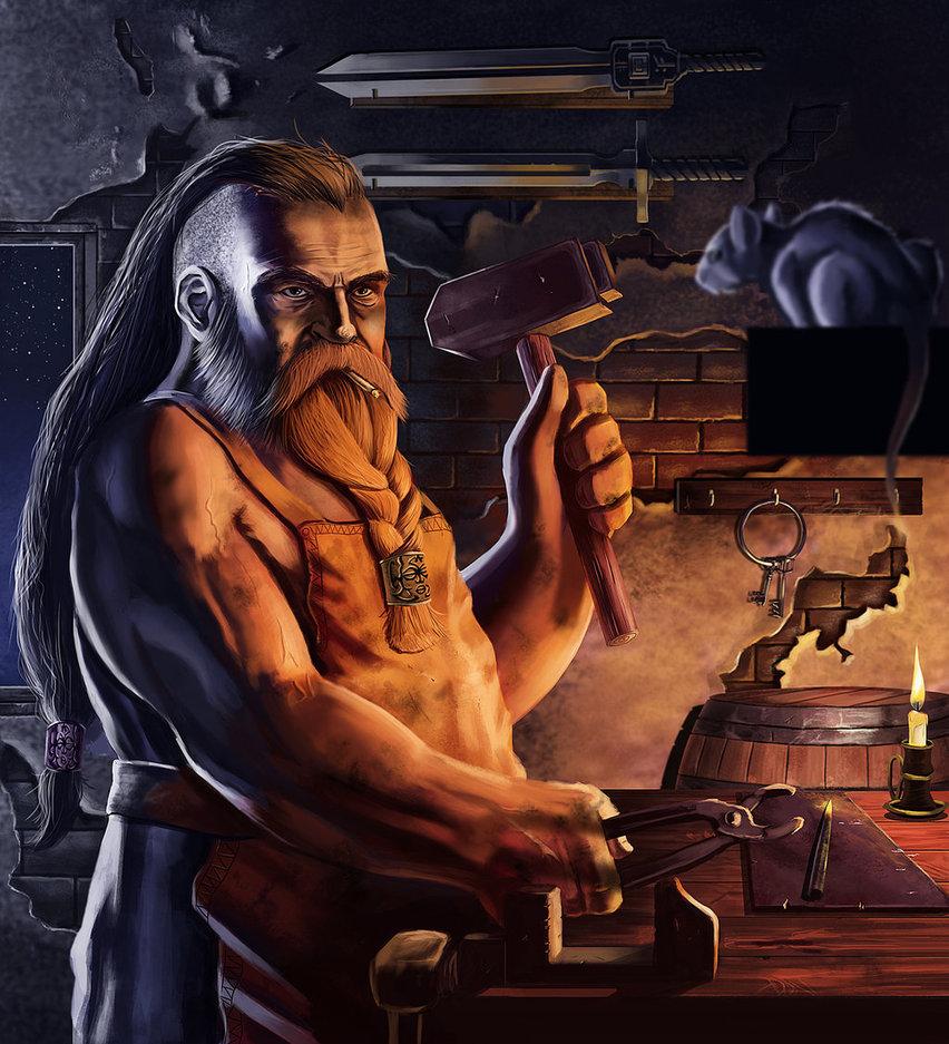 Drawn dwarf blacksmith Mobocanario by mobocanario DeviantArt blacksmith