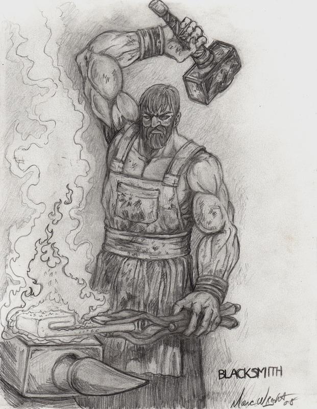 Drawn dwarf blacksmith Scream Shadow Scream DeviantArt by