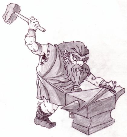 Drawn dwarf blacksmith Wintertatze by Wintertatze DeviantArt Smith