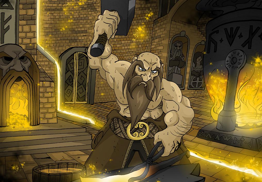 Drawn dwarf blacksmith Newgrounds on Blacksmith MasterOfDarkArts Dwarven