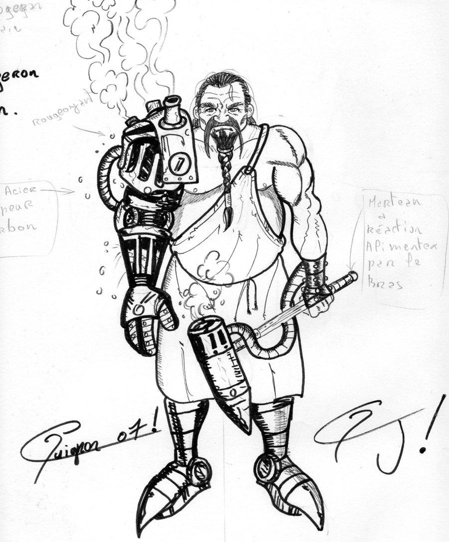 Drawn dwarf blacksmith Johnnyrider by on DeviantArt johnnyrider