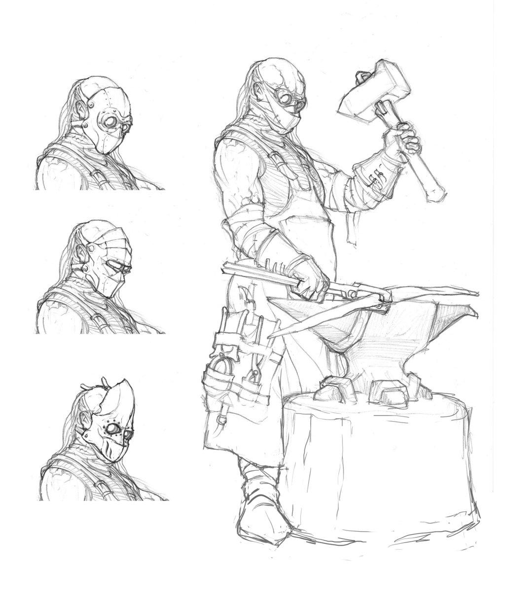 Drawn dwarf blacksmith By blacksmith blacksmith on 2blind2draw