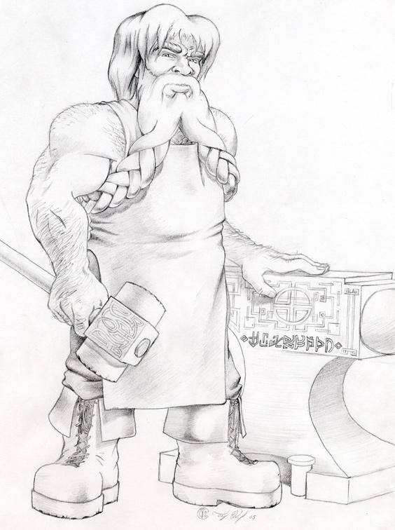 Drawn dwarf blacksmith By Blacksmith Beowulf Kennedy Dwarven