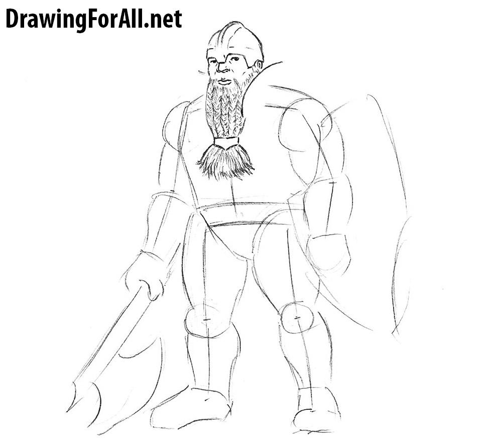 Drawn dwarf drawing A beard to normal draw