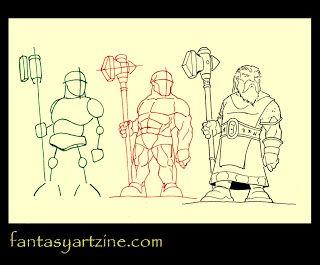Drawn dwarf drawing Dwarf drawings a Fantasy hammer