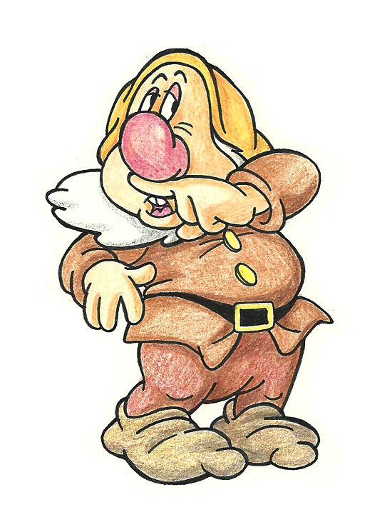 Drawn dwarf drawing The Disney Dwarfs s Grumpy