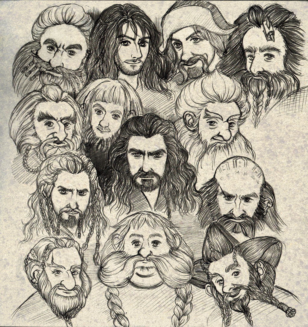 Drawn dwarf hobbit Hobbit The Dwarves Hobbit DeviantArt