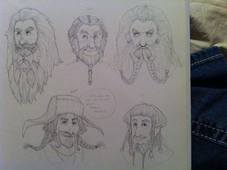 Drawn dwarf hobbit Hobbit 2 The WIP WIP