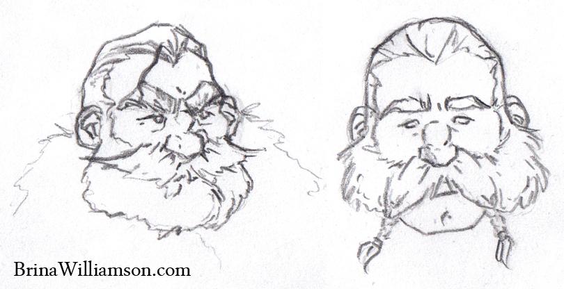 Drawn dwarf hobbit Dwarf Brina Hobbit Sketches Williamson
