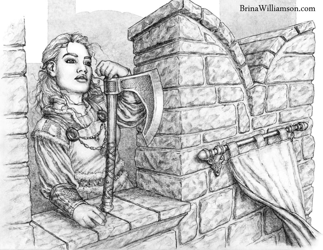 Drawn dwarf hobbit Lass Brina dwarf on Williamson