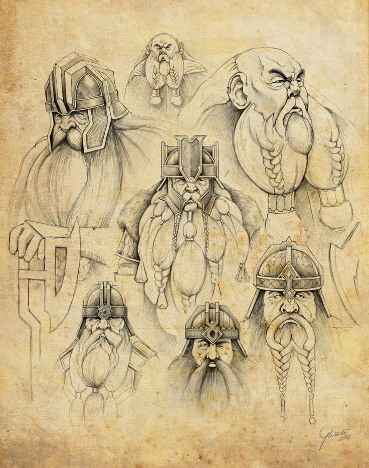 Drawn dwarf hobbit This Lord The Hobbit Rings