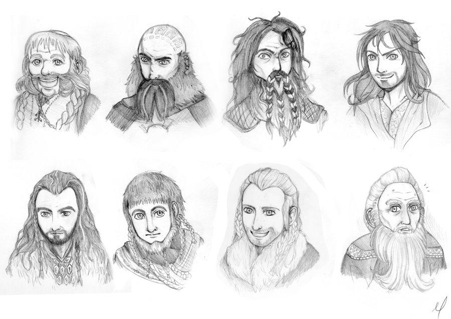 Drawn dwarf hobbit The Hobbit: C 8 Palmer