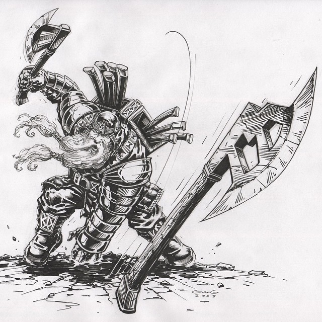 Drawn dwarf hobbit Pen for #dwarves Dwarf #hobbit