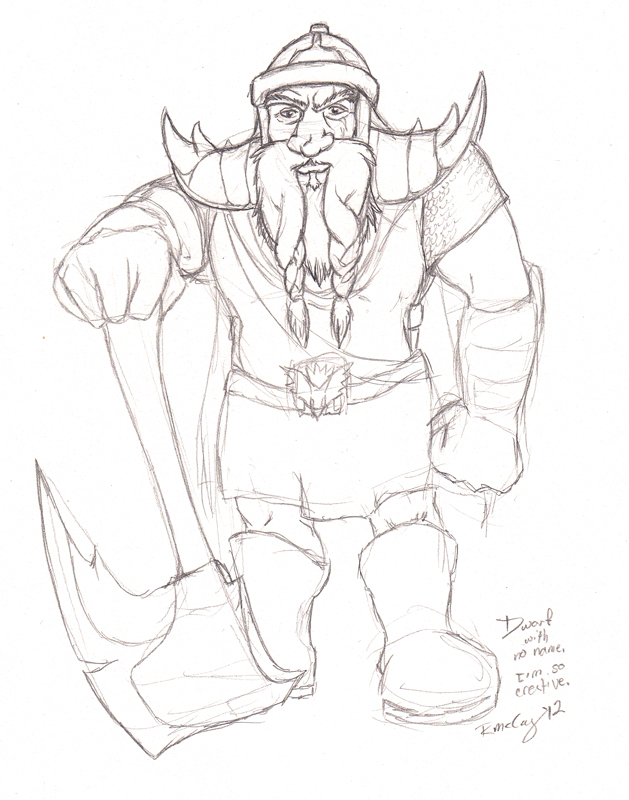 Drawn dwarf sketch McCoy Dwarf by  Rachel