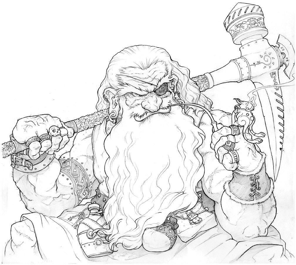 Drawn dwarf sketch Dwarf Inkthinker of DeviantArt Portrait