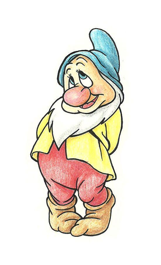 Drawn dwarf sketch Snow Disney  Dwarfs s