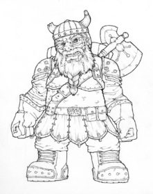 Drawn dwarf sketch Dwarf Drawing Images Pencil Sketch