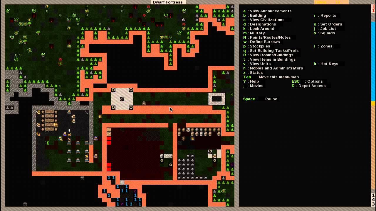 Drawn dwarf space And Bridges Fortress Fortress Draw