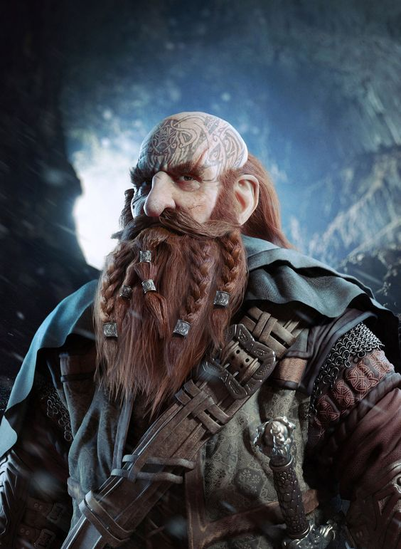 Drawn dwarf the hobbit character  Dwarf Design epic from