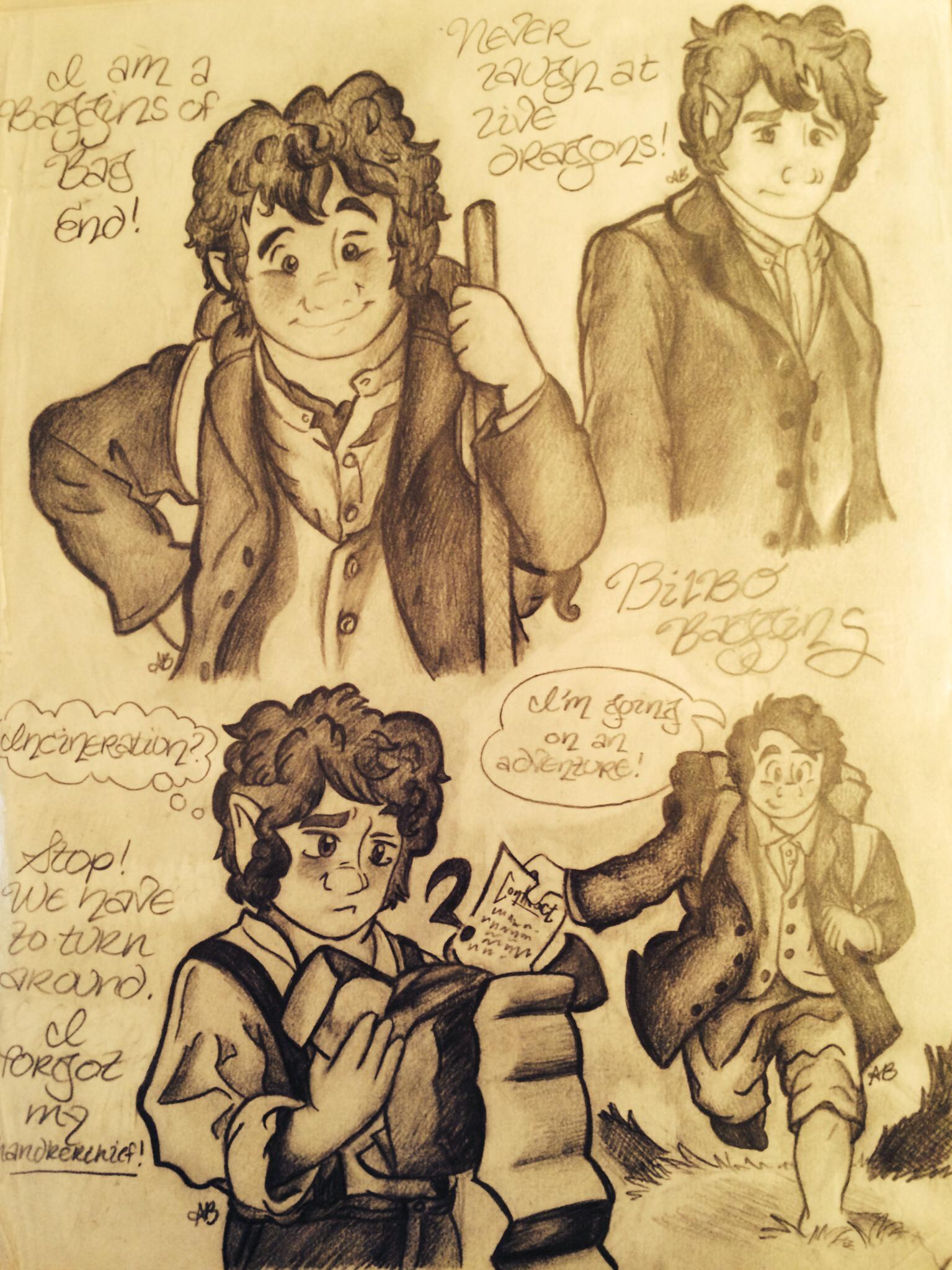 Drawn dwarf the hobbit character J novel DRAWN R J