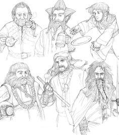 Drawn dwarf the hobbit character Drawing http://sosojk Pin more Tolkien
