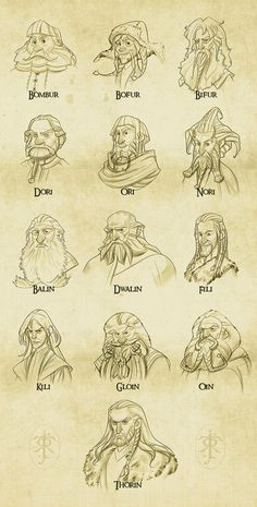 Drawn dwarf the hobbit character Tolkien dragon/smaug Best Hobbit The