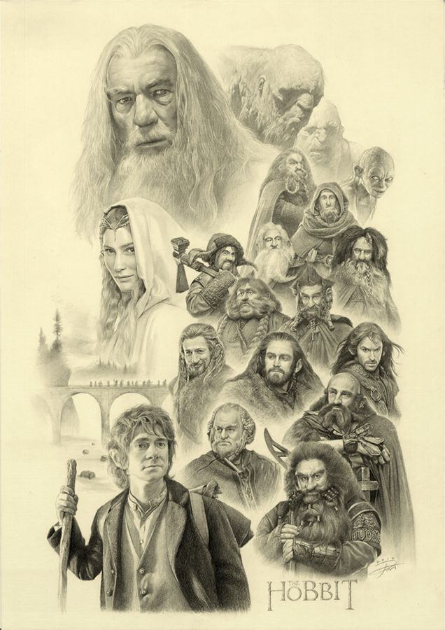 Drawn dwarf the hobbit character Images Hobbit on (whole Artwork