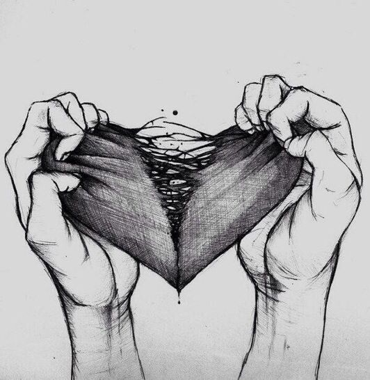 Drawn dying Has someone heart it inside