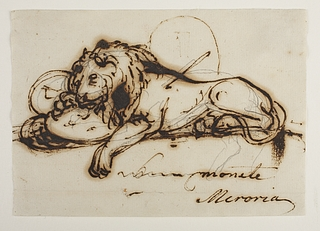 Drawn dying Lion) Lucerne (The Dying Archives