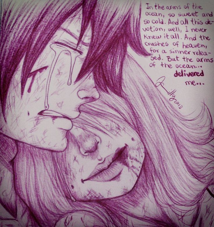 Drawn dying cold ;_; think Sad Gruvia dying!