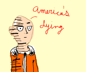 Drawn dying punching Dying said by punch (drawing