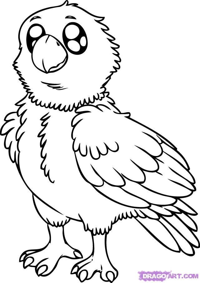 Drawn hawk baby #3