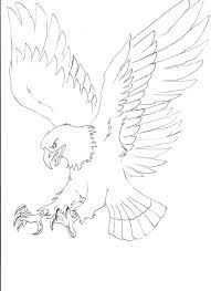 Drawn eagle line drawing #8