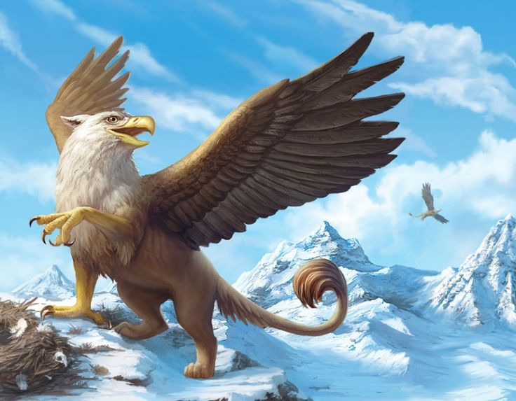 Drawn griffon magical creature Creatures best on images drawing