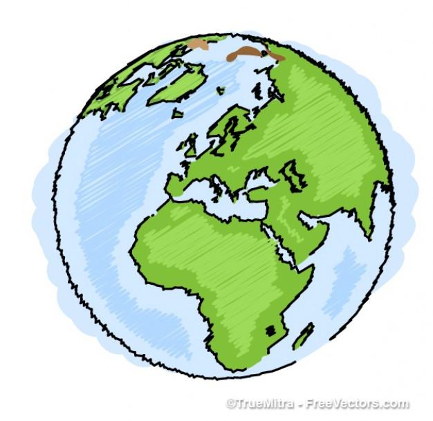 Drawn globe  drawing blue Earth freebies