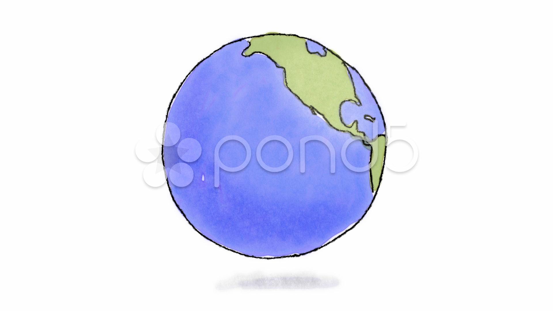 Drawn earth Earth Stock Video still ~