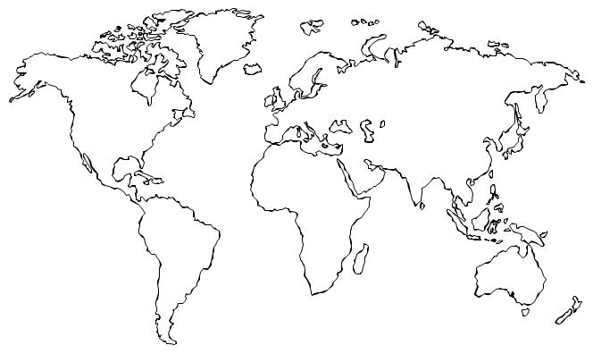 Drawn globe Tattoo Best World travel outline