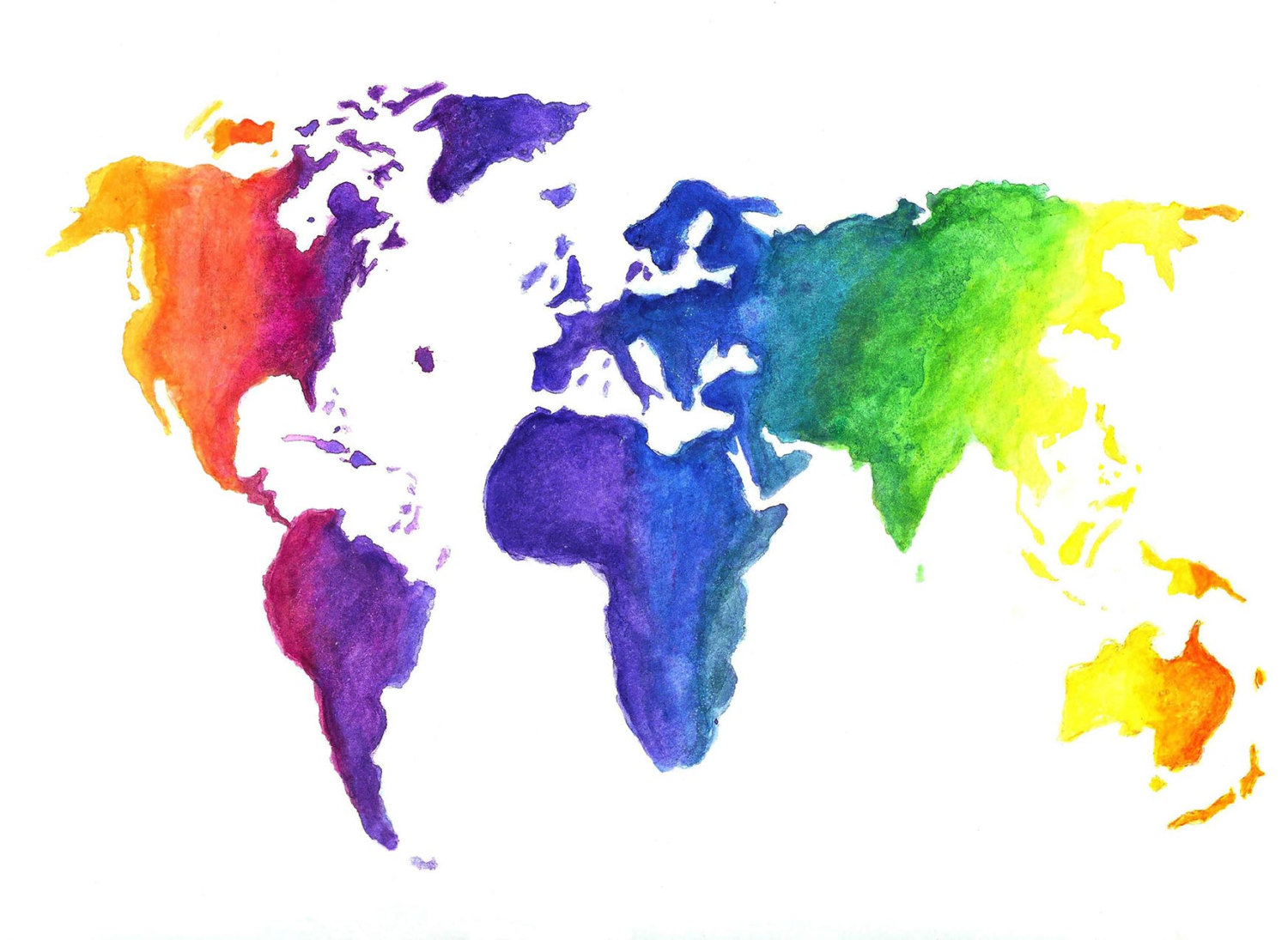 Drawn rainbow blue In World Colors for Rainbow