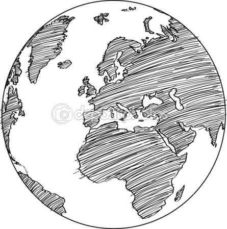 Drawn globe sketched 10 Vector Detail Vector Up