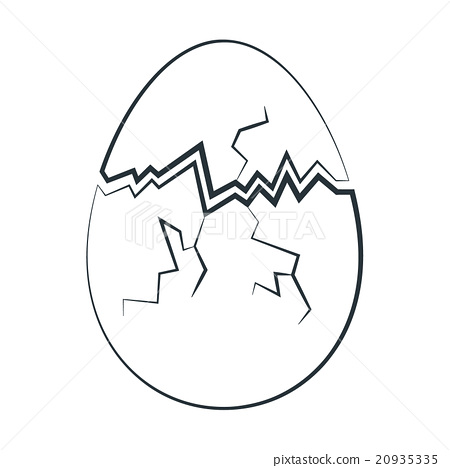 Drawn egg Drawn Illustration Hand easter [20935335]